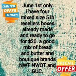 JUNE 1ST ONLY mixed size 5 lb resellers box